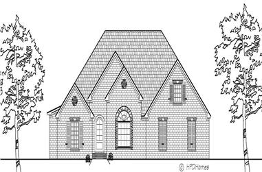 4-Bedroom, 2296 Sq Ft European Home Plan - 140-1006 - Main Exterior