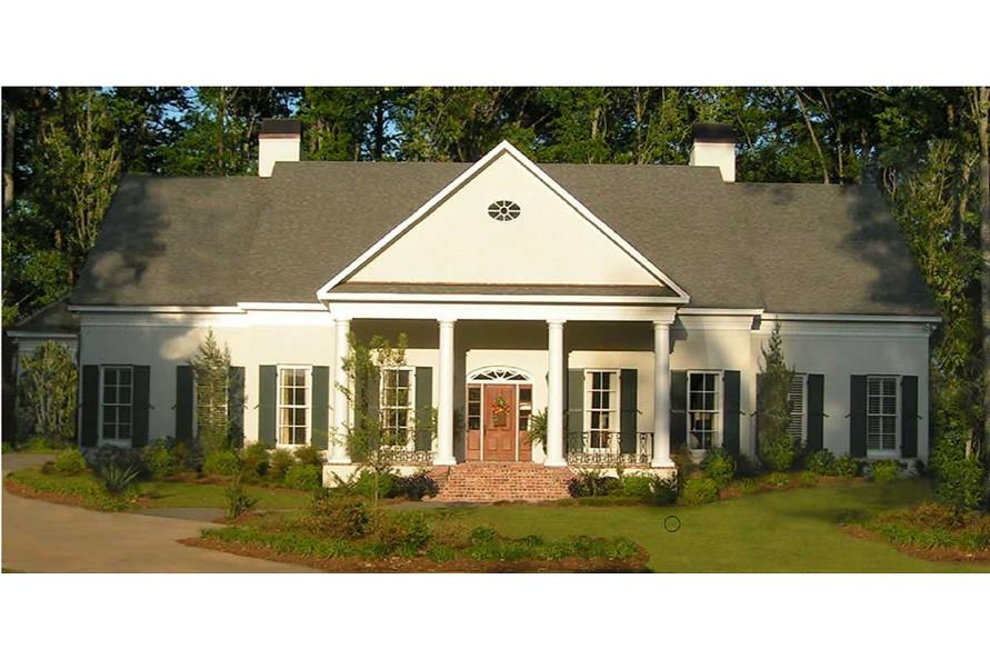 4-Bedroom, 4378 Sq Ft Traditional Home - Plan #140-1008 - Main Exterior
