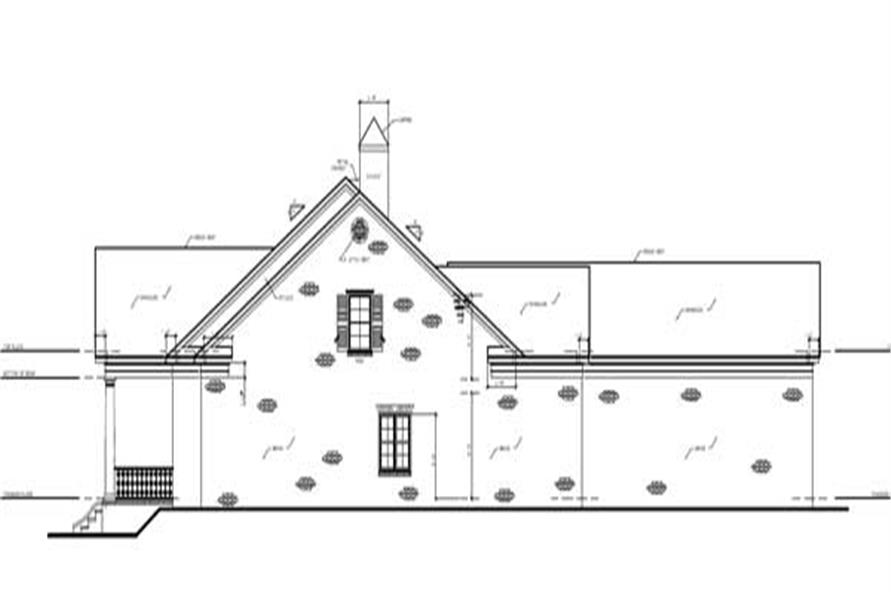 Home Plan Right Elevation of this 4-Bedroom,4378 Sq Ft Plan -140-1008
