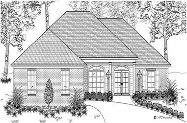 3-Bedroom, 1550 Sq Ft European House Plan - 140-1009 - Front Exterior