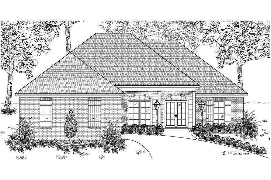 This is the front elevation of these European Homeplans.