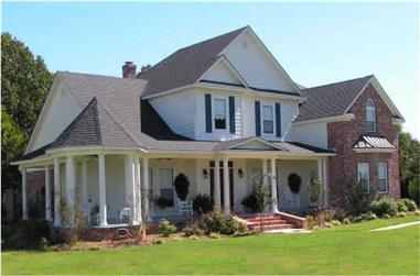4-Bedroom, 2865 Sq Ft Country House Plan - 140-1012 - Front Exterior