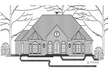 4-Bedroom, 2973 Sq Ft European House Plan - 140-1013 - Front Exterior