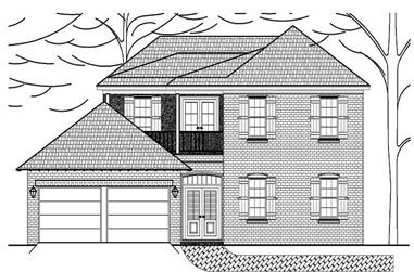 3-Bedroom, 2212 Sq Ft House Plan - 140-1014 - Front Exterior