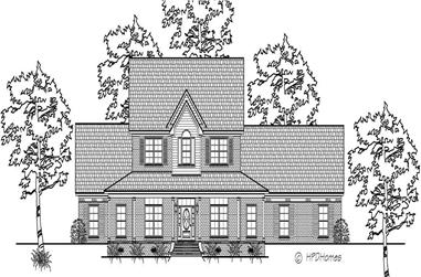 3-Bedroom, 3113 Sq Ft Cape Cod House Plan - 140-1019 - Front Exterior