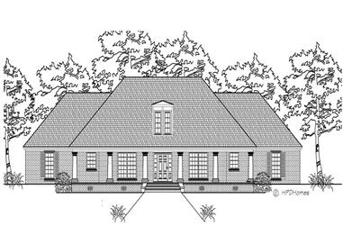 3-Bedroom, 2361 Sq Ft Southern Home Plan - 140-1020 - Main Exterior