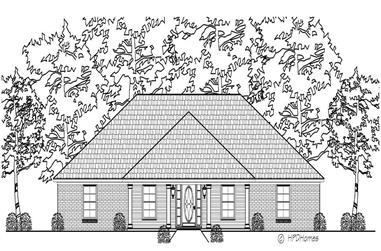 3-Bedroom, 2103 Sq Ft Country House Plan - 140-1026 - Front Exterior
