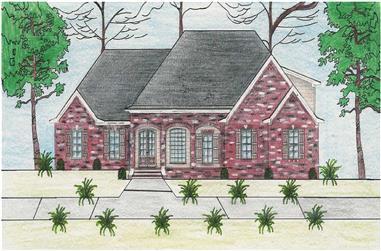 3-Bedroom, 2723 Sq Ft Cape Cod Home Plan - 140-1027 - Main Exterior