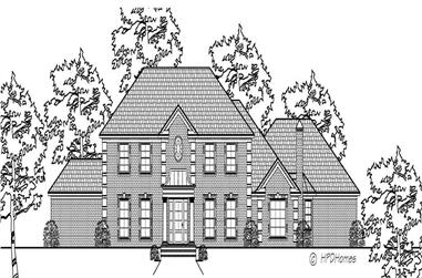 4-Bedroom, 3984 Sq Ft Cape Cod Home Plan - 140-1028 - Main Exterior