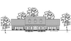 This is a black and white rendering of these Country Home Plans.