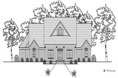 4-Bedroom, 3045 Sq Ft Country Home Plan - 140-1033 - Main Exterior