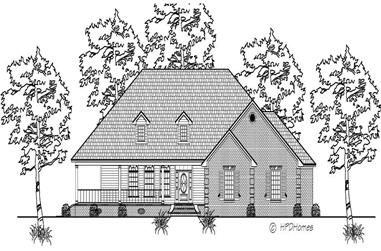 3-Bedroom, 2464 Sq Ft Country House Plan - 140-1036 - Front Exterior