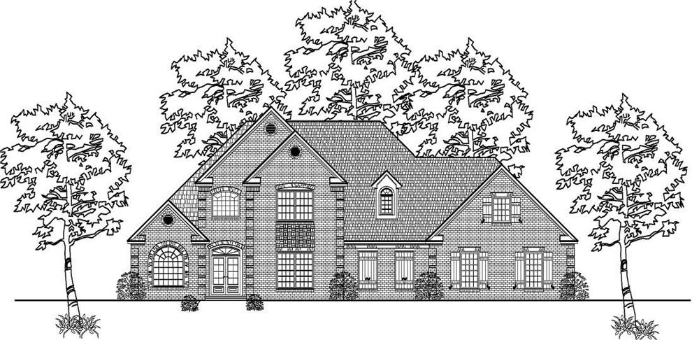 This is the front elevation of these European Houseplans.