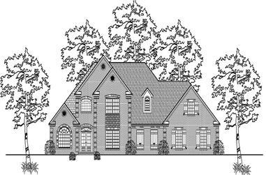4-Bedroom, 3066 Sq Ft Cape Cod Home Plan - 140-1038 - Main Exterior