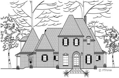 4-Bedroom, 4080 Sq Ft European House Plan - 140-1040 - Front Exterior