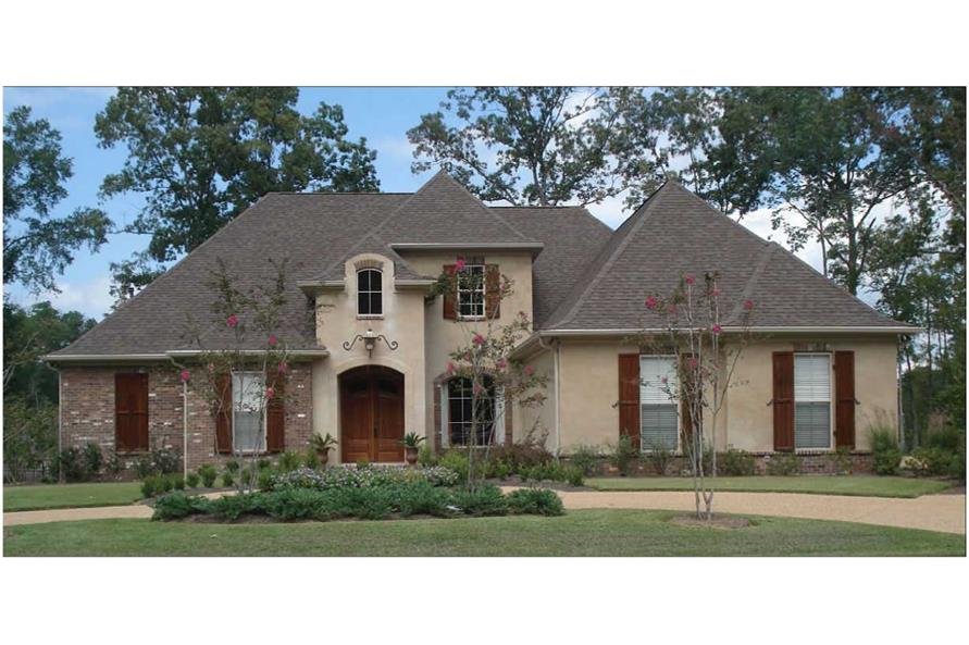 3-Bedroom, 3259 Sq Ft European Home Plan - 140-1041 - Main Exterior