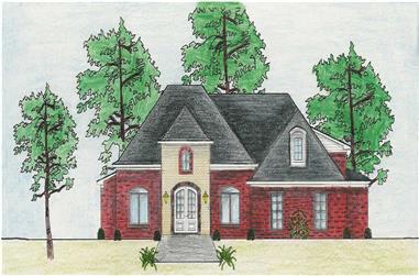3-Bedroom, 2045 Sq Ft European House Plan - 140-1042 - Front Exterior