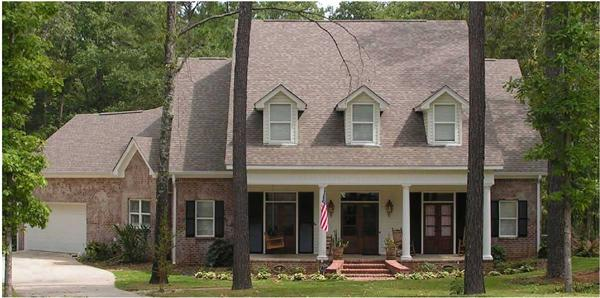 Here is a color photo of these House Plans.