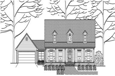 3-Bedroom, 2792 Sq Ft Cape Cod Home Plan - 140-1045 - Main Exterior