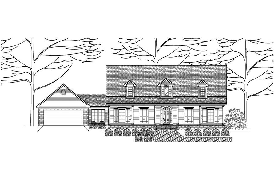 This is another boring black and white elevation for another boring Country Home Plan.