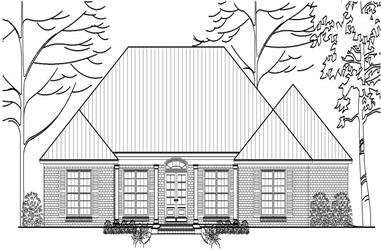 3-Bedroom, 2153 Sq Ft Country House Plan - 140-1047 - Front Exterior