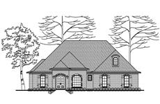 This is a black and white elevation of these European Houseplans.