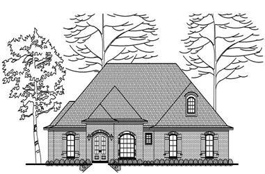 3-Bedroom, 2395 Sq Ft European House Plan - 140-1048 - Front Exterior