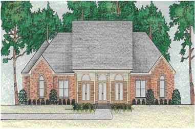 3-Bedroom, 2899 Sq Ft Country House Plan - 140-1055 - Front Exterior
