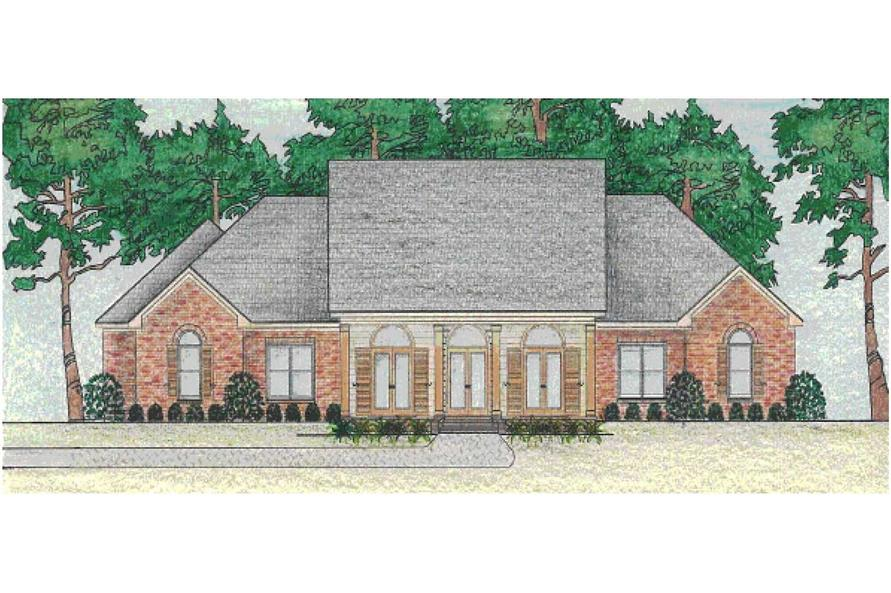 This is a color photo of these House Plans.