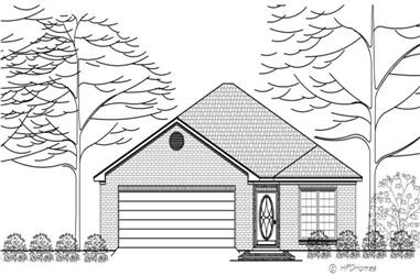 2-Bedroom, 1217 Sq Ft Transitional House Plan - 140-1059 - Front Exterior