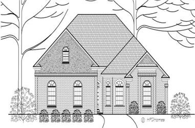 3-Bedroom, 2560 Sq Ft Ranch House Plan - 140-1060 - Front Exterior