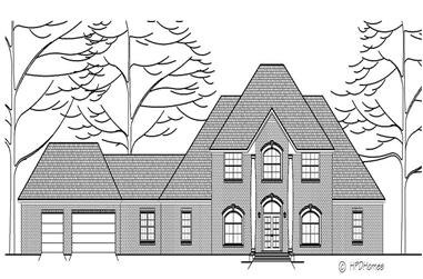 3-Bedroom, 3257 Sq Ft Colonial House Plan - 140-1061 - Front Exterior