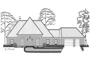 3-Bedroom, 3226 Sq Ft European House Plan - 140-1063 - Front Exterior