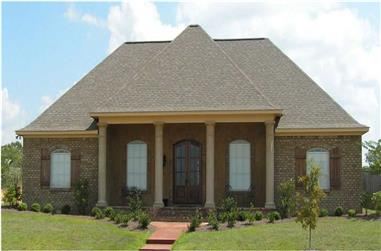 3-Bedroom, 2215 Sq Ft Country House Plan - 140-1064 - Front Exterior