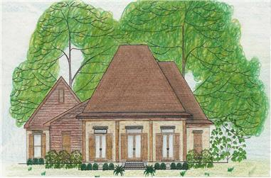 3-Bedroom, 2568 Sq Ft Country House Plan - 140-1065 - Front Exterior