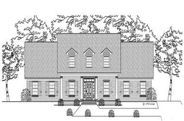3-Bedroom, 2174 Sq Ft Cape Cod Home Plan - 140-1068 - Main Exterior