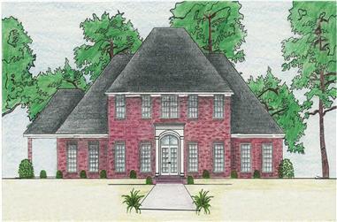 3-Bedroom, 3486 Sq Ft Cape Cod Home Plan - 140-1069 - Main Exterior
