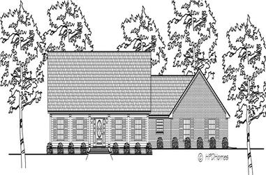 3-Bedroom, 2402 Sq Ft Country House Plan - 140-1071 - Front Exterior