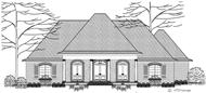 This is a black and white rendering of these French Country House Plans,