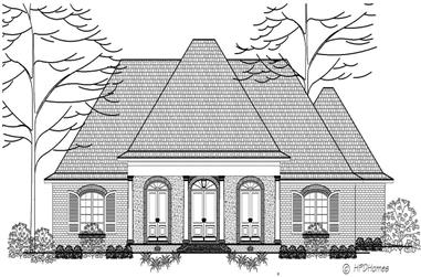 3-Bedroom, 2215 Sq Ft European House Plan - 140-1072 - Front Exterior