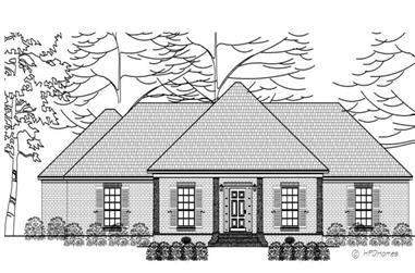3-Bedroom, 2381 Sq Ft Ranch House Plan - 140-1074 - Front Exterior
