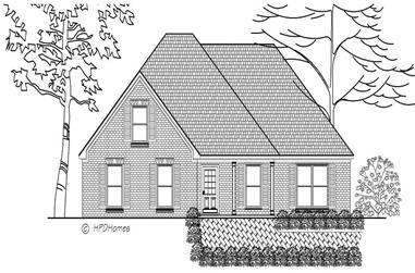 3-Bedroom, 1514 Sq Ft European House Plan - 140-1075 - Front Exterior