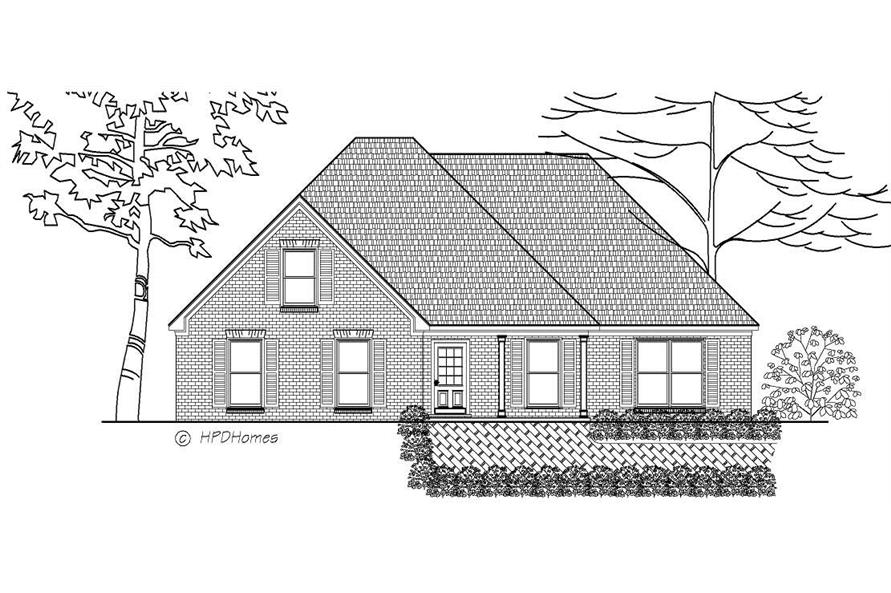 This is a black and white rendering of these boring Home Plans.