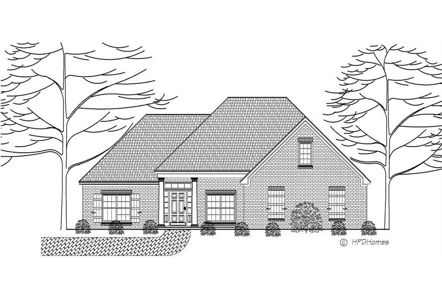 This is a black and white rendering of these French Homeplans.