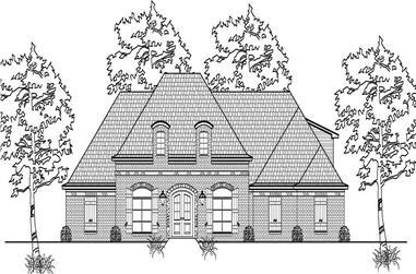 3-Bedroom, 2822 Sq Ft European Home Plan - 140-1080 - Main Exterior