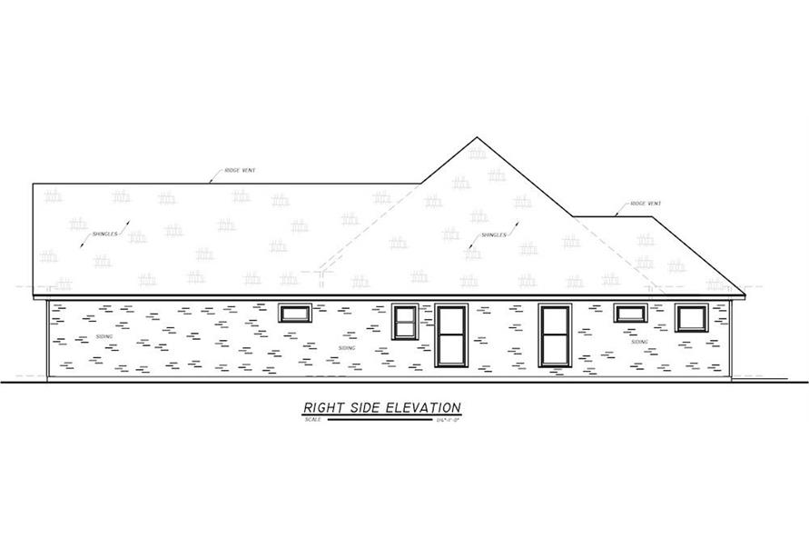 Home Plan Right Elevation of this 3-Bedroom,1984 Sq Ft Plan -140-1095