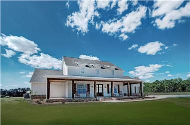 4-Bedroom, 3410 Sq Ft Modern Farmhouse House Plan - 140-1096 - Front Exterior