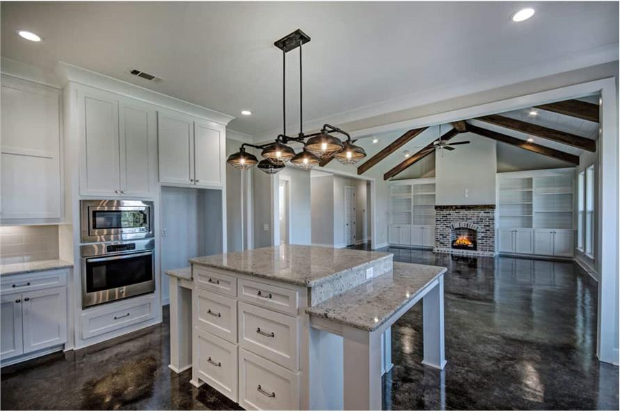 Kitchen: Kitchen Island of this 4-Bedroom,2677 Sq Ft Plan -2677