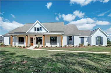 4-Bedroom, 2677 Sq Ft Ranch Style Farmhouse - Plan #140-1097 - Front Exterior