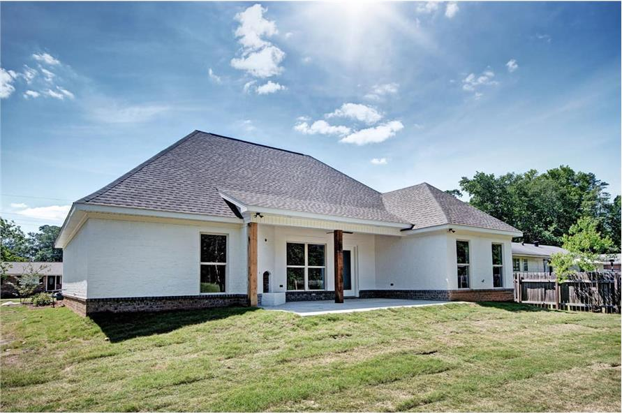 Rear View of this 3-Bedroom,1581 Sq Ft Plan -1581